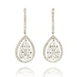 2.49ct Diamond 18k White Gold Dangle Earrings