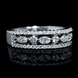 .69ct Diamond 18k White Gold Wedding Band Ring