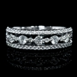.77ct Diamond 18k White Gold Wedding Band Ring