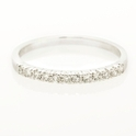 Diamond Round Brilliant Cut Platinum Wedding Band Ring