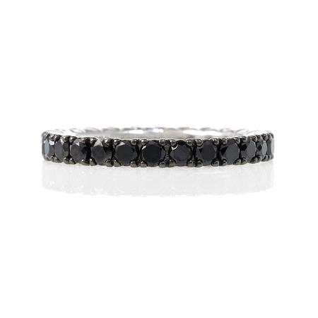 Diamond 18k White Gold and Black Rhodium Eternity Ring