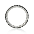 1.04ct Diamond 18k White Gold and Black Rhodium Eternity Ring