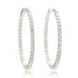 6.87ct Diamond 18k White Gold Hoop Earrings