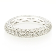 2.93ct Diamond 18k White Gold Eternity Wedding Band Ring