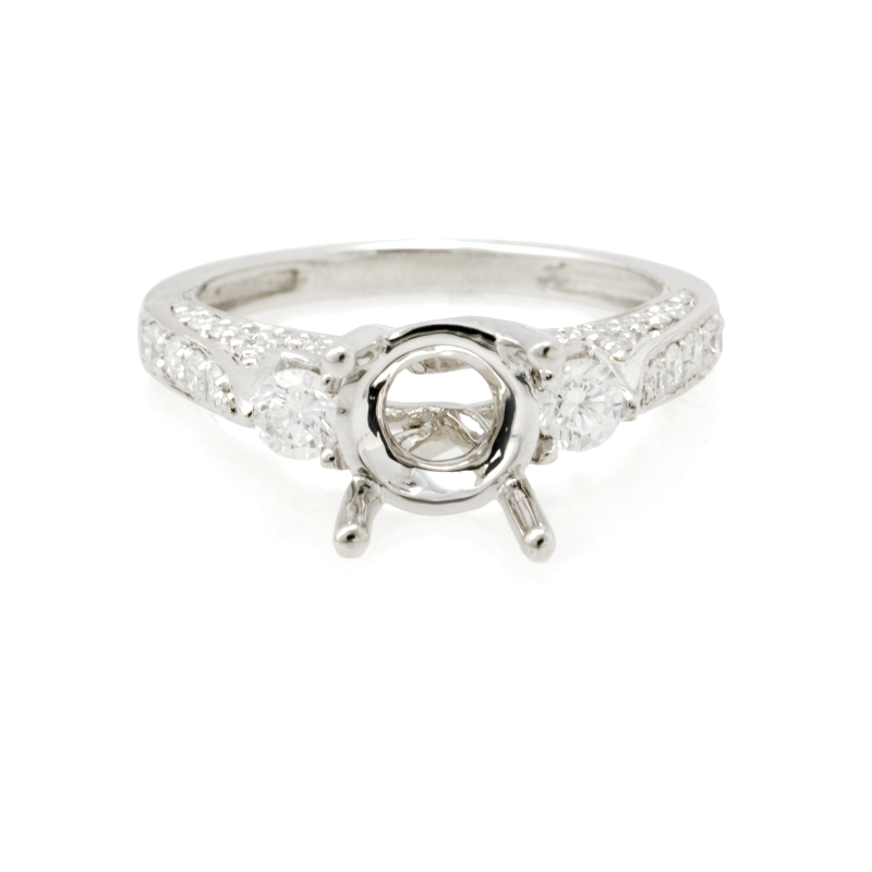 62ct Diamond Platinum Engagement Ring Setting