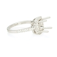 .42ct Diamond Platinum Halo Engagement Ring Setting
