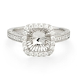 .56ct Diamond Antique Style Platinum Halo Engagement Ring Setting