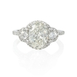 .58ct Diamond Platinum Halo Engagement Ring Setting