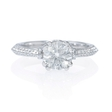 .22ct Diamond Antique Style Platinum Engagement Ring Setting