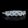 1.36ct Diamond 18k White Gold Six Stone Wedding Band Ring