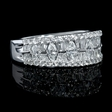 1.25ct Diamond 18k White Gold Wedding Band Ring