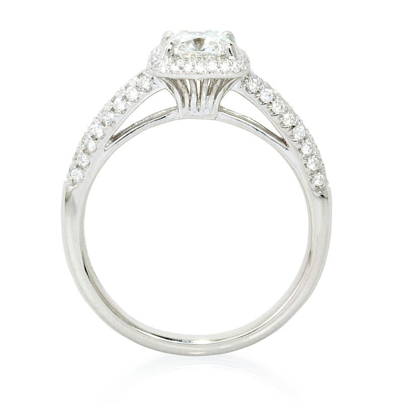 56ct diamond platinum halo engagement ring setting