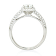 .56ct Diamond Platinum Halo Engagement Ring Setting