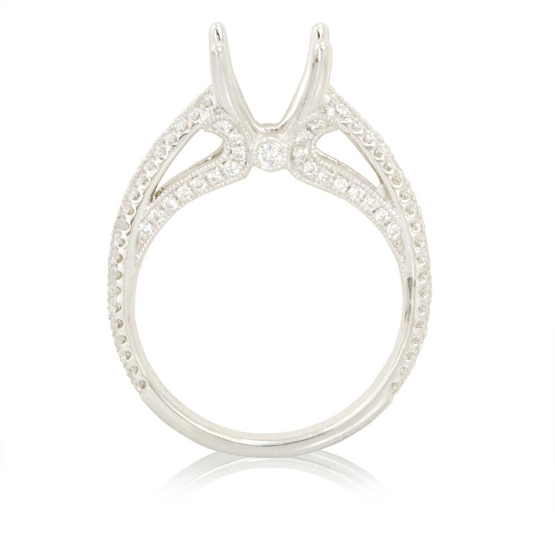 51ct Diamond Platinum Engagement Ring Setting
