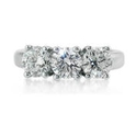 Diamond Platinum 3 Stone Engagement Ring