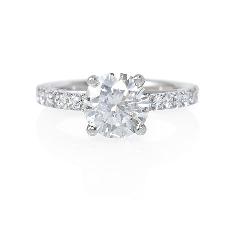 73ct Diamond Platinum Engagement Ring Setting