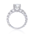 1.50ct Diamond Antique Style Platinum Engagement Ring Setting
