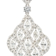 5.89ct Diamond 18k White Gold Dangle Earrings