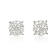 .98ct Diamond 18k White Gold Earrings