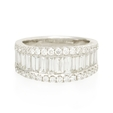 2.36ct Diamond 18k White Gold Wedding Band Ring