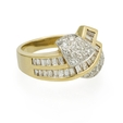 1.90ct Diamond 14k Two Tone Gold Ring