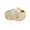 Diamond 14k Two Tone Gold Ring