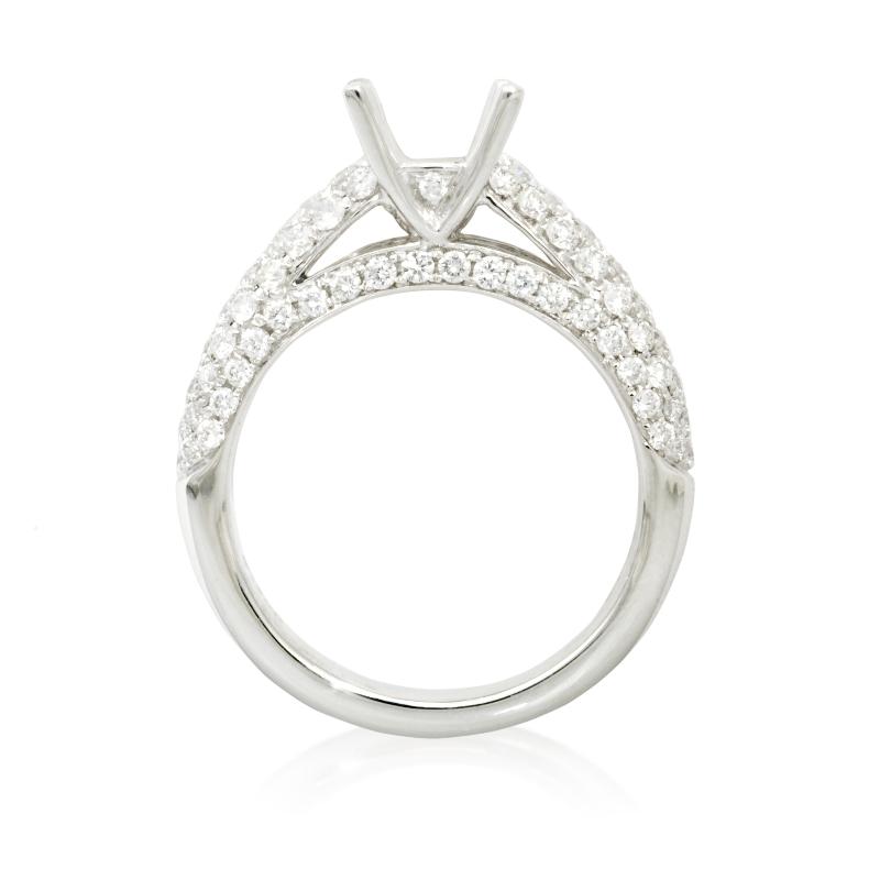 84ct Diamond Platinum Engagement Ring Setting