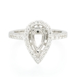 .45ct Diamond 18K White Gold Halo Engagement Ring Setting