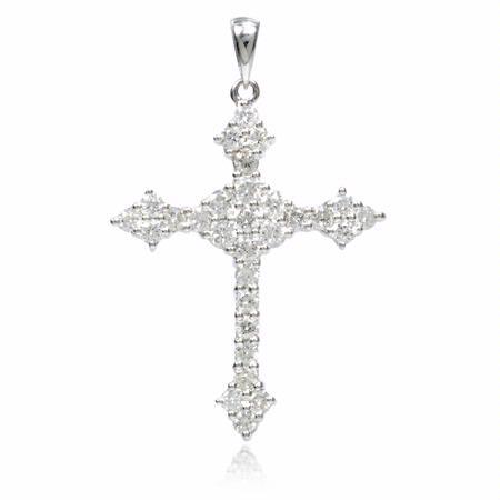 75ct diamond 18k white gold cross pendant 75ct diamond 18k white gold cross pendant aloadofball Gallery