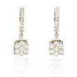 .85ct Diamond 18k White Gold Dangle Earrings