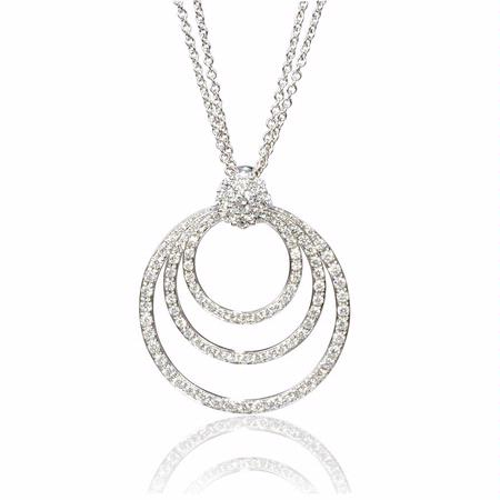 Diamond 18k White Gold Pendant Necklace