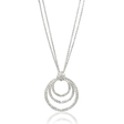 1.23ct Diamond 18k White Gold Pendant Necklace