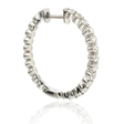 .66ct Diamond 18k White Gold Hoop Earrings