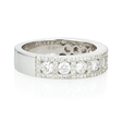 .85ct Diamond 18k White Gold Wedding Band Ring