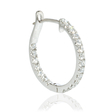 .74ct Diamond 18k White Gold Huggie Earrings