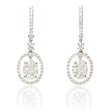 1.32ct Diamond 18k White Gold Dangle Earrings
