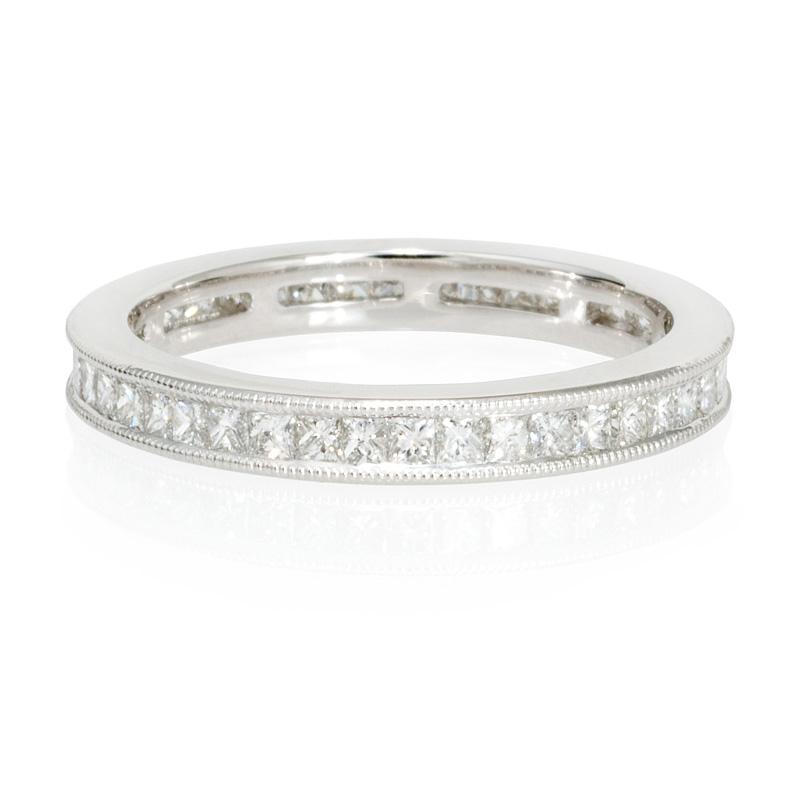 82ct antique style platinum eternity ring
