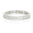 .82ct Diamond Antique Style Platinum Eternity Ring