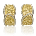 Diamond 18k Two Tone Gold Earrings