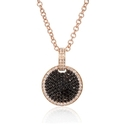 Diamond 18k Pink Gold Pendant