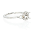 .43ct Ritani Bella Vita Collection Diamond 18k White Gold Halo Engagement Ring Setting