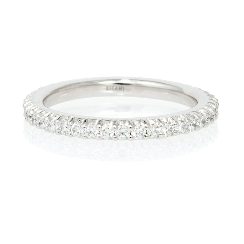 60ct ritani bella vita collection diamond 18k white gold eternity wedding band ring - Ritani Wedding Rings