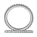 Ritani Bella Vita Collection Diamond 18k White Gold Eternity Wedding Band Ring