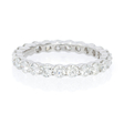 1.57ct Diamond Round Brilliant Cut Shared Prong Platinum Eternity Wedding Band Ring