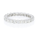 Diamond 1.61 Carats Round Brilliant Cut Shared Prong Platinum Eternity Wedding Band Ring