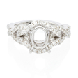 .54ct Diamond 18k White Gold Halo Engagement Ring Setting