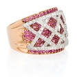 .94ct Diamond and Pink Sapphire 18k Two Tone Gold Ring
