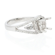 .52ct Diamond Platinum Halo Engagement Ring Setting