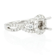 .95ct Diamond Platinum Halo Engagement Ring Setting