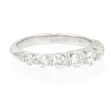 .80ct Diamond Antique Style Platinum Wedding Band Ring
